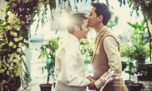 Ảnh cưới đồng tính đẹp lung linh của DJ nổi tiếng Thái Lan