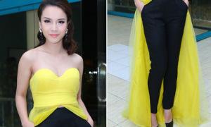 Hot or not: Yến Trang mix váy dạ hội với quần dài