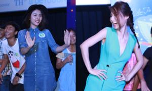 Vân Trang, Diễm My 9x nhảy múa xì tin vui trung thu
