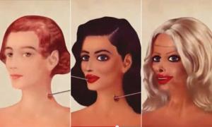 Loạt hình sống động mô tả quy trình lột xác thành hot girl
