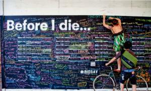 Thông điệp 'Trước khi chết, tôi muốn...' gây sốt trên thế giới