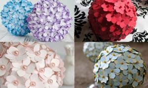 Kết hoa cẩm tú cầu giấy xinh lung linh tặng bạn