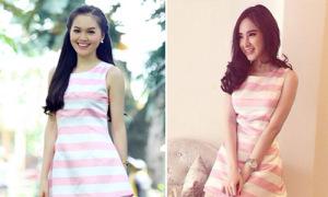Miss Ngoisao Hye Trần so váy hồng ngọt ngào với Phương Trinh