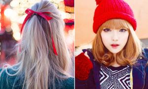 8 kiểu tóc xinh yêu đi chơi Noel cho các nàng