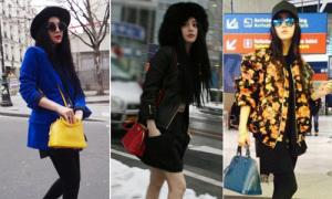 Style sân bay nhí nhảnh hơn teen của 'Võ Tắc Thiên' Phạm Băng Băng