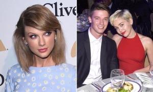 Taylor Swift khoe chân thon, Miley Cyrus tình tứ bên bạn trai