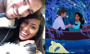 Chàng trai lãng mạn biến bạn gái thành công chúa Disney