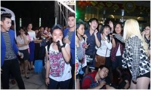 Nhóm 365, Mi-A bất ngờ bị fans giật micro khi đang hát