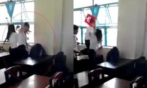 Hiệu trưởng không dám tin khi xem clip học sinh đánh bạn tàn bạo bằng ghế