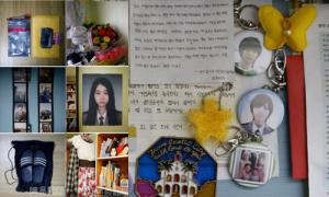 Cha mẹ nạn nhân chìm phà Sewol nâng niu di vật của con
