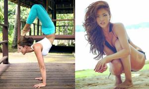 Mỹ nhân yoga sở hữu thân hình khiến fan nam khó rời mắt