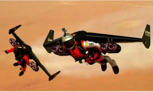 Hai chàng trai bay trên bầu trời Dubai hệt như phim hành động