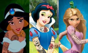 Khi công chúa Disney cũng xăm trổ hầm hố