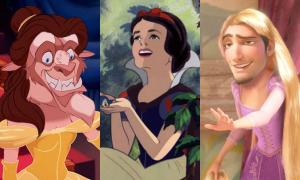 Dàn công chúa Disney xấu hoắc khi bị gán mặt hoàng tử