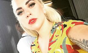 Sao US-UK 3/5: Lady Gaga trang điểm đậm như người chuyển giới