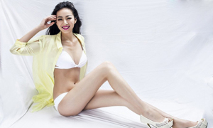 Cô gái chân dài 115 cm gây sốt mạng Trung Quốc