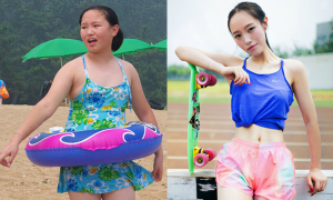 Thiếu nữ 19 tuổi khoe eo thon chân dài sau khi giảm 40kg