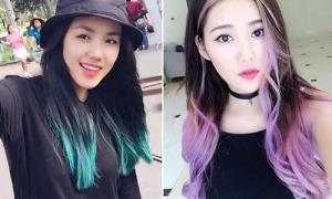 Dàn hot girl Việt khoe màu tóc 'sáng bừng' mới toe