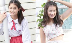 Nữ sinh Thái Lan lột xác chóng mặt khi đi học và đi chơi
