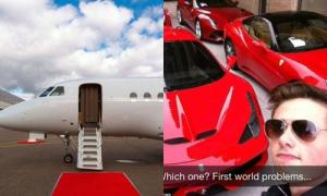 Hội con nhà giàu đi học bằng siêu xe, máy bay riêng