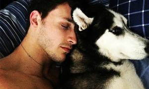 Tình bạn thân thiết của anh bác sĩ điển trai và chú chó Husky