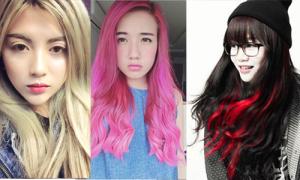 5 hot teen thay đổi màu tóc chóng mặt nhất