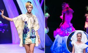 Nguyễn Oanh vừa catwalk vừa 'múa', Hương Ly diện váy cưới phát sáng