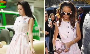 Sao style 22/11: Huyền Baby đụng váy Dior hàng độc với Rihanna