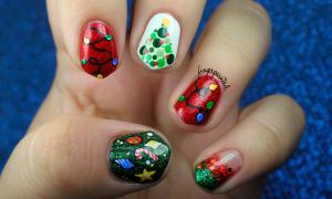 Những mẫu nail giúp bạn nổi bật đêm Giáng sinh