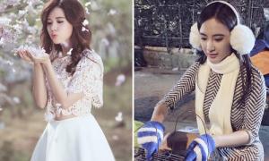 Sao Việt 1/1: Phương Trinh nướng bánh tráng đón năm mới, Midu hóa cô tiên hoa đào