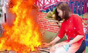 Xin lửa nấu bánh chưng, cô gái bị chế ảnh 'dìm hàng'