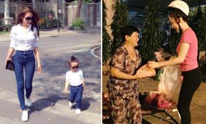 Sao Việt 24/2: Cadie tập đi người mẫu, Phương Trinh gây cười vì cách đội mũ bảo hiểm
