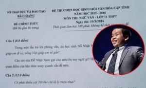Câu nói của Đỗ Nhật Nam vào đề thi HSG tỉnh môn Văn