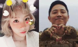 Sao Hàn 24/3: Sao 'Hậu duệ mặt trời' bắn tim nịnh fan, Tae Yeon mặt trẻ con