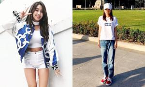Sao Hàn 1/4: Dara lăng-xê mốt tạo dáng 'thẳng đơ', Bora chân thon nhỏ hơn hẳn