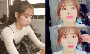 Sao Hàn 10/5: Park Shin Hye lộ 'màn hình phẳng', Nana môi cong quyến rũ