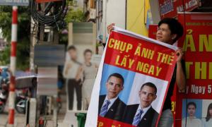 Báo ngoại nhầm ảnh quảng cáo thành 'poster chào đón Obama' tại Việt Nam