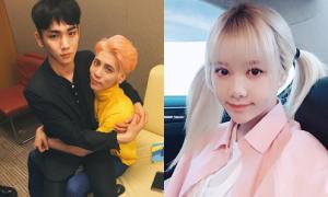 Sao Hàn 27/5: Qri buộc tóc 2 bên như học sinh, Key ngồi trong lòng Jong Hyun