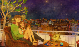 Bộ tranh thế giới tình yêu của 2 người khiến ai cũng ao ước
