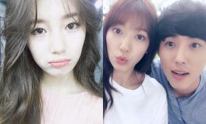 Sao Hàn 1/7: Park Shin Hye thân mật bên 'tình đầu màn ảnh', Suzy làm nũng