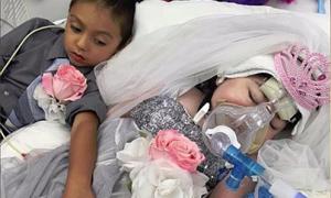 Cô bé 5 tuổi 'cưới' bạn thân trước khi chết