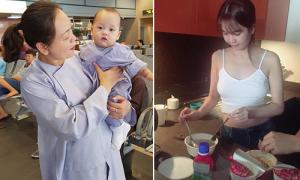 Sao Việt 27/9: Con trai Ly Kute như tiểu 'Hòa thượng', Ngọc Trinh ăn mì gói đón sinh nhật