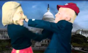 Trump-Clinton đấm nhau, hát đôi, đấu hiphop trong loạt clip chế