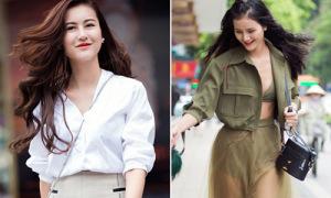 Hà Lade mặt khác lạ, Hương Ly mặc nội y nổi nhất phố đi bộ
