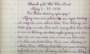 Ảnh hot 9/11: Bé lớp 2 viết thư nhắn hiệu trưởng 'cô ngoan đi'