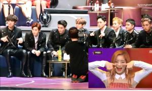 EXO sôi nổi nhảy theo khi xem Twice biểu diễn tại MAMA