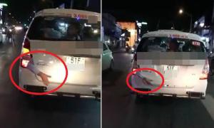 Sự thật vụ cánh tay người kẹp sau cốp xe taxi trên phố Sài Gòn