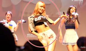 Mặc đồ diễn hở, sao nữ Hàn gặp sự cố 'ngượng đỏ mặt'