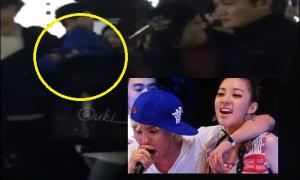 Clip dấy lên nghi ngờ G-Dragon hôn và bảo vệ Dara