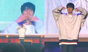 Lee Dong Wook ôm mặt xấu hổ khi nhảy 'TT' của Twice